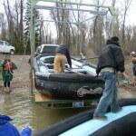 Getting rafts ready